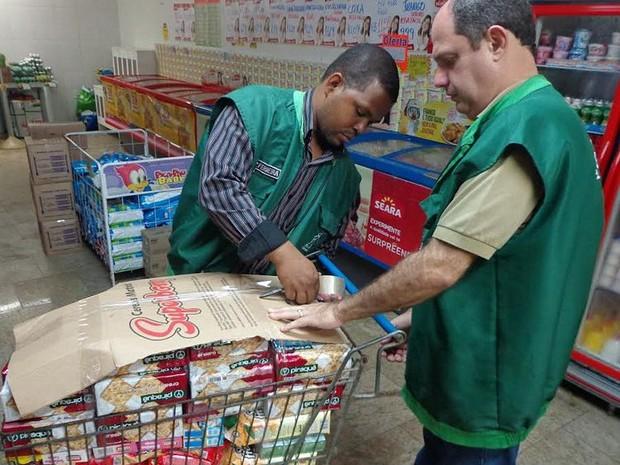 Operação foi em um supermercado de Donana, em Campos (Foto: Divulgação/Prefeitura de Campos)