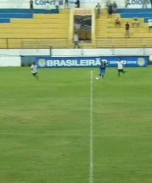Carlinhos Bala, trivela (Foto: TV Verdes Mares)