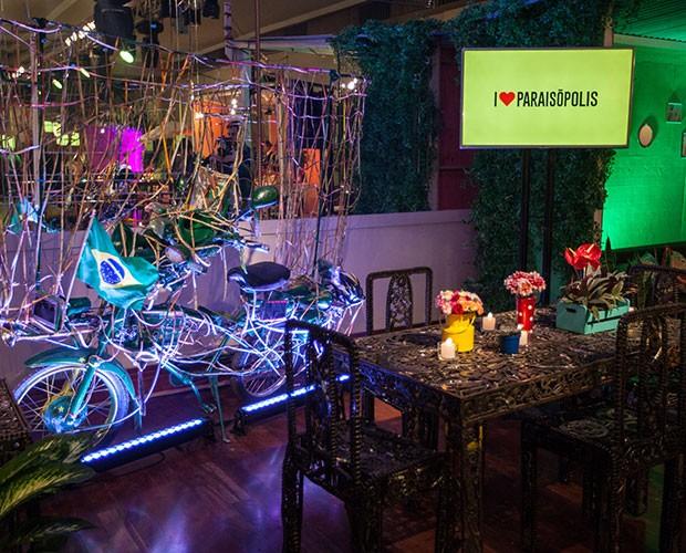 Muita cor e vibração na decoração da festa de I love Paraisópolis (Foto: Fabiano Battaglin / Gshow)