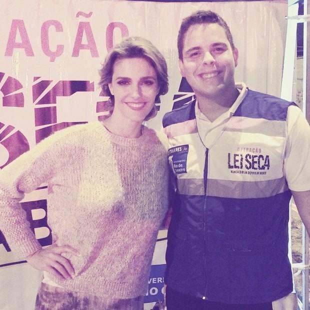 Fernanda Lima é parada em blitz da Lei Seca no Rio (Foto: Instagram/ Reprodução)