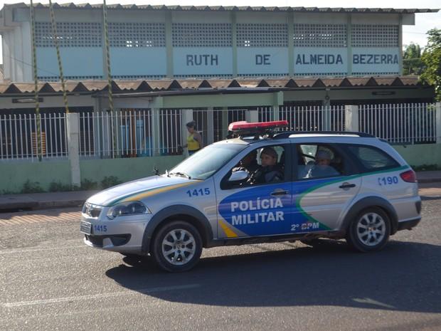 Escola, assalto, Amapá, Macapá, Polícia (Foto: Jorge Abreu/G1)