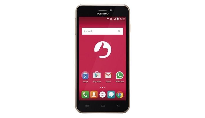 Quattro X435 é o primeiro smartphone da Positivo com 4G (Foto: Divulgação)