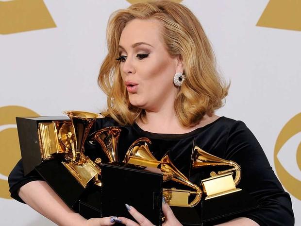 Adele Grammy (Foto: Multishow)