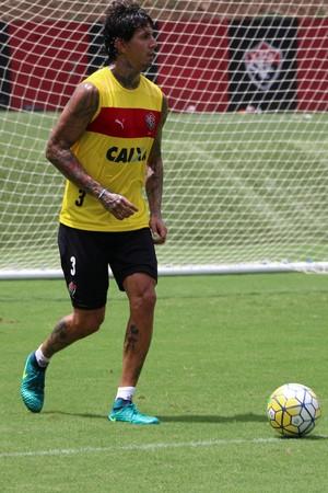 Vitória; treino; Toca do Leão; Victor Ramos (Foto: Francisco Galvão/EC Vitória/Divulgação)