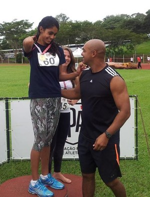 Maria Victória Belo de Sena velocista Jogos Escolares da Juventude (Foto: Inaldo Sena / Cedida)