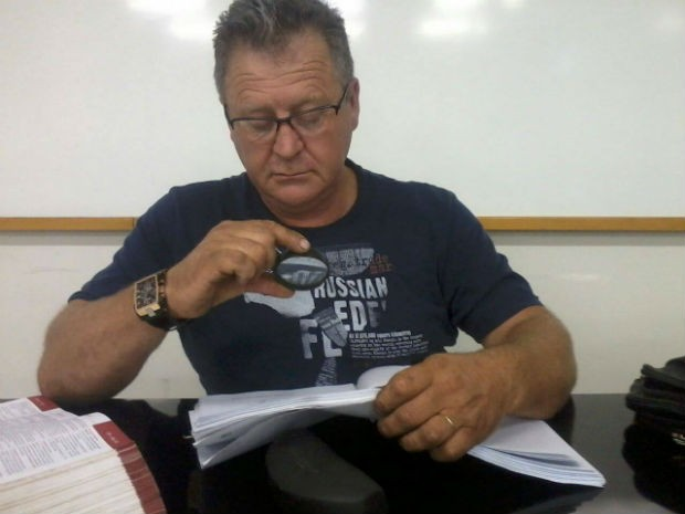 Manfroi em uma aula prática na faculdade (Foto: Arquivo pessoal)