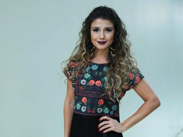 Paula revela que ganhou o primeiro concurso que participou (Foto: Isabella Pinheiro/Gshow)