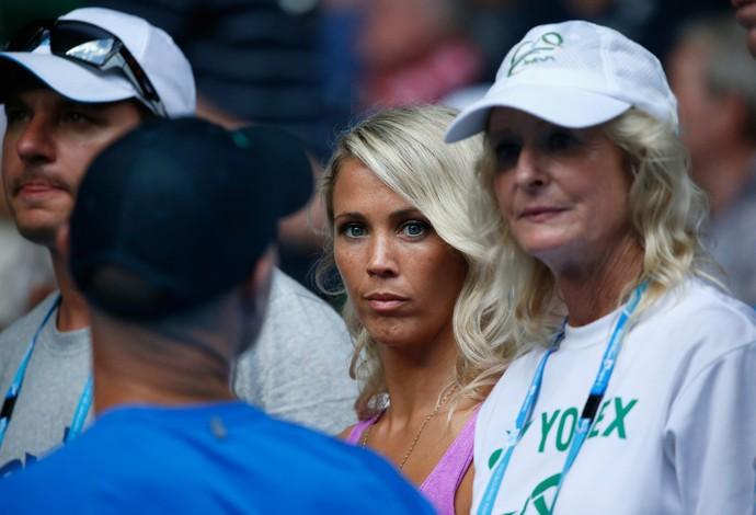Olhos claros e cabelos loiros platinados de Bec chamaram a atenção (Foto: Getty Images)