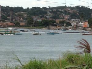 Praia do subúrbio de Salvador  (Foto: Valma Silva / G1)