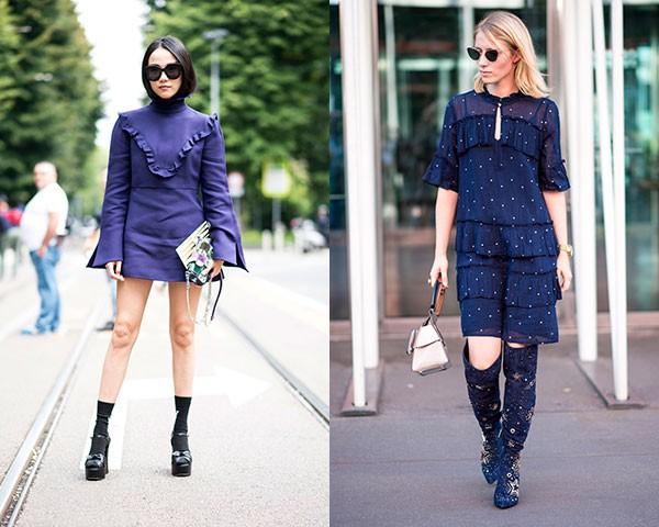 Peças monocromáticas com babados foram maioria nas produções de moda (Foto: Imaxtree)