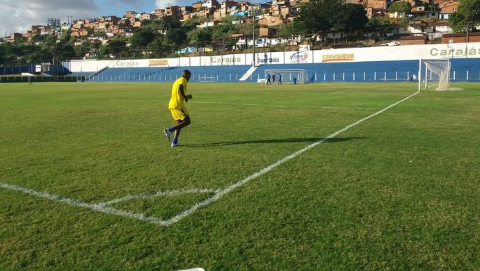 Nicácio vai passar por exame nesta quarta-feira (Foto: Augusto Oliveira / GloboEsporte.com)