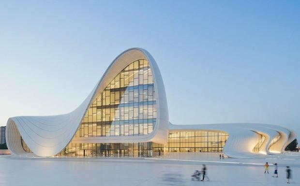 Prdio futurista de Zahar Hadid - centro cultural (Foto: Divulgao / Zaha Hadid)