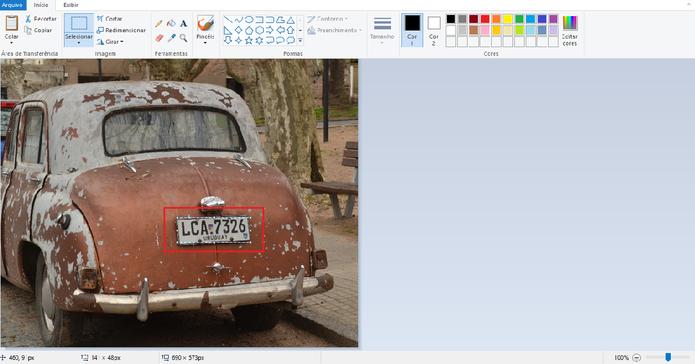 Blur no Paint: utilizando comandos do teclado (Reprodução/Luana Marfim) (Foto: Blur no Paint: utilizando comandos do teclado (Reprodução/Luana Marfim))
