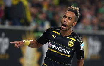 Aubameyang faz dois, e Borussia goleia o Wolfsburg fora de casa