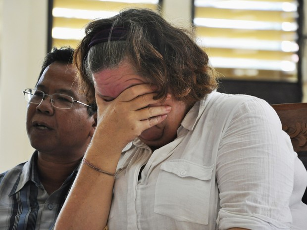 Tribunal da Indonésia condenou Sandiford  à morte na terça-feira por carregar 4,7 kg de cocaína no forro de sua mala (Foto: REUTERS/Stringe)