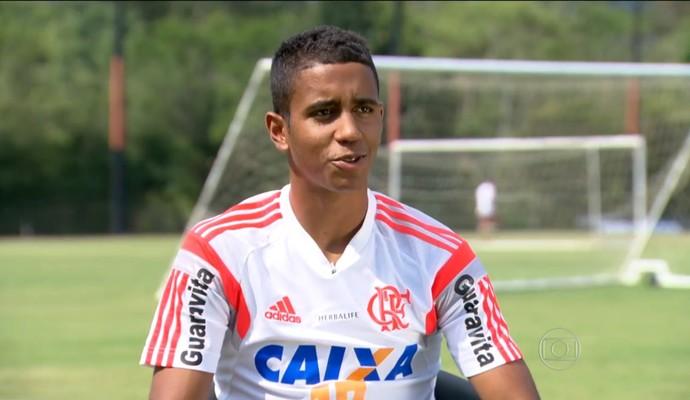 Gabriel conversou com o Esporte Espetacular depois do sucesso com o Galo (Foto: Reprodução TV Globo)