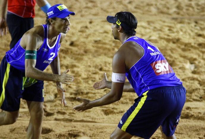 Ricardo e Emanuel (Foto: Divulgação/FIVB)