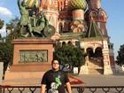 André Marques curte viagem à Rússia