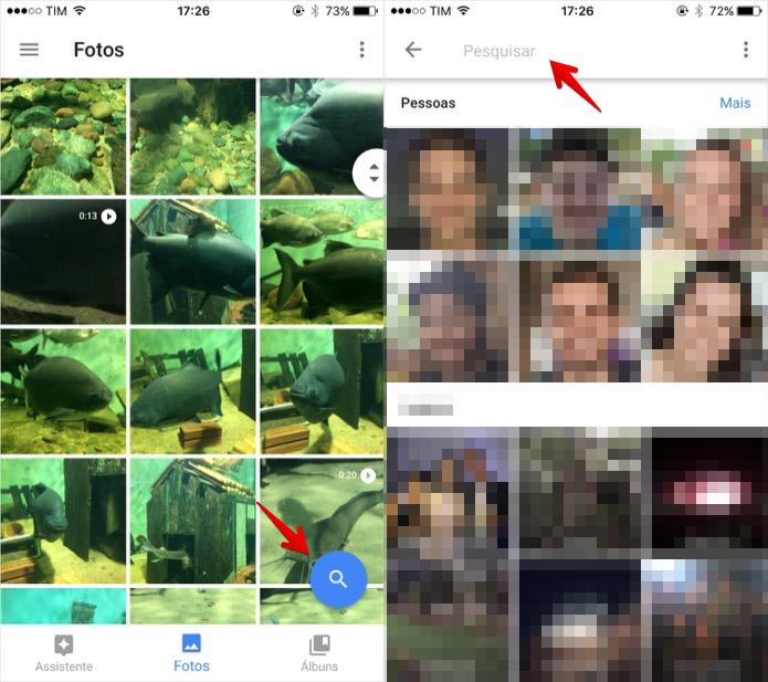 Acesse a busca do Google Photos (Foto: Reprodução/Helito Bijora)