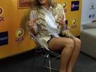 Claudia Leitte conversa com a imprensa em Salvador antes de show