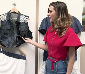 Flávia Pina ensina como reaproveitar suas roupas antigas (Foto: TV Globo)