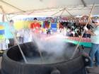 Cidade de SC tem novo recorde de maior canjica do Brasil, de 2 toneladas
