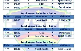 Fim de semana tem rodada cheia no Pernambucano de Base de Futebol 7