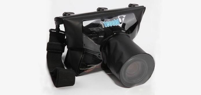 Capa protetora para mergulhar câmera SLR na água l(Foto: Divulgação/Tteoobl) (Foto: Capa protetora para mergulhar câmera SLR na água l(Foto: Divulgação/Tteoobl))