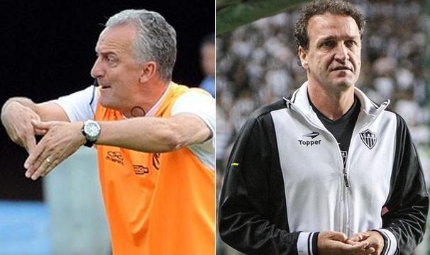 Os técnivos Cuca e Dorival Júnior (Foto: Bruno Cantini / Flickr do Atlético-MG / Alexandre Vidal / Flaimagem)