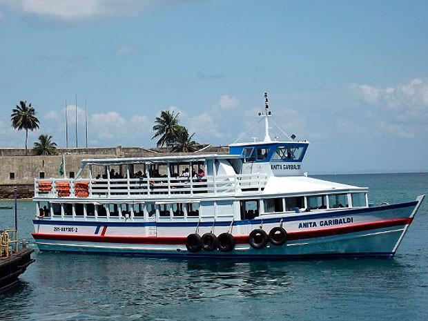 Travessia Salvador-Mar Grande, no terminal náutico da Bahia. (Foto: Divulgação/ Astramab)
