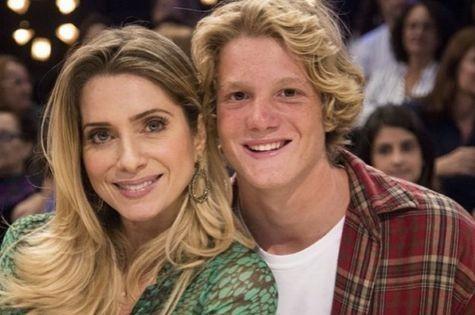 Letícia Spiller e o filho, Pedro (Foto: Reprodução)