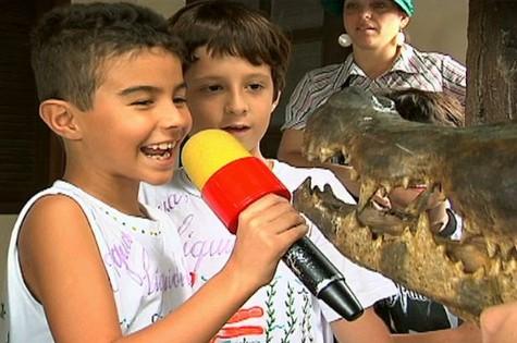 """Gravações do programa infantil """"TV Piá"""" (Foto: Reprodução)"""