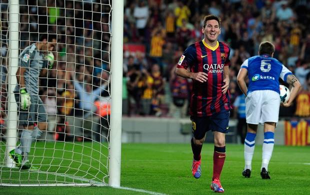 Messi gol Barcelona contra Real Sociedad (Foto: AFP)