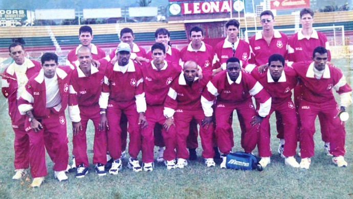 Elenco do Rio Branco campeão da Copa Norte 1997 (Foto: Manoel Façanha/Arquivo Pessoal)