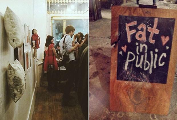 O evento ocorreu em uma galeria de artes em Toronto, no Canadá (Foto: Reprodução / Fat Girl Food Squad)