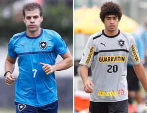 Tulio e Bruno Mendes Botafogo (Foto: Montagem sobre foto do Globo)