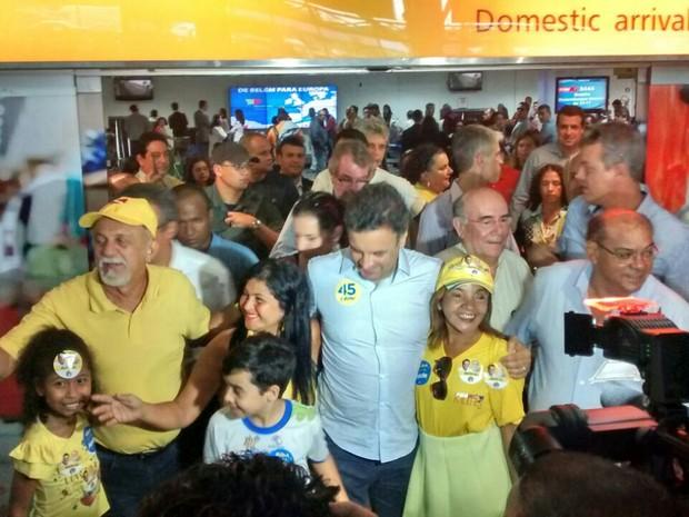 Aécio Neves Belém (Foto: G1)