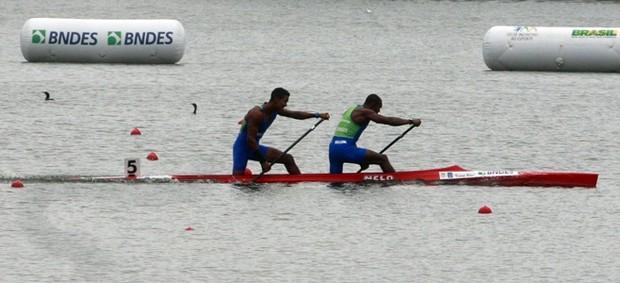 Erlon Silva e Ronílson Oliveira no Pan-Americano de canoagem (Foto: Divulgação CBCa)