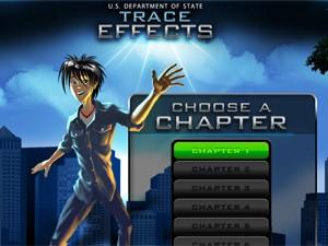 Jogo virtual Trace Effects, criado pelo governo dos EUA (Foto: Reprodução)