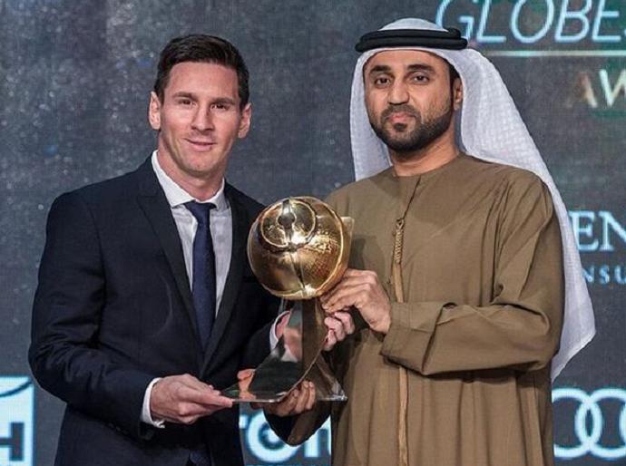 Messi premio Globe Soccer Dubai (Foto: Divulgação)