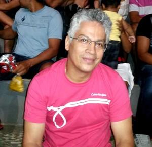 Aluísio Veras, engenheiro que enfrentou 400km de moto para ver final do Acreano de Futsal em Tarauacá (Foto: Yuri Marcel/G1)