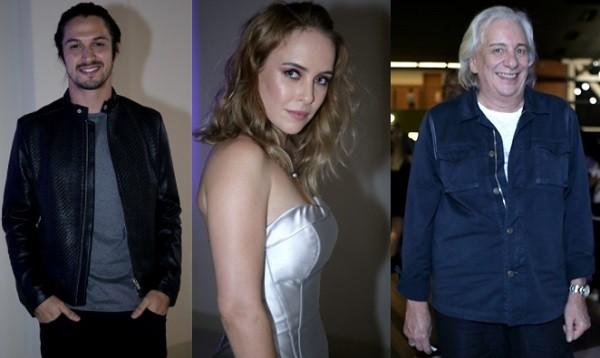 Romulo Estrela, Fernanda Nobre e Marco Nanini estão no elenco de Deus salve o rei (Foto: Raquel Cunha/ TV Globo)