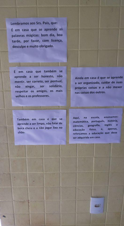 Bilhetes escritos pelo professor Rivaldo Araújo da Silva (Foto: Reprodução Facebook)