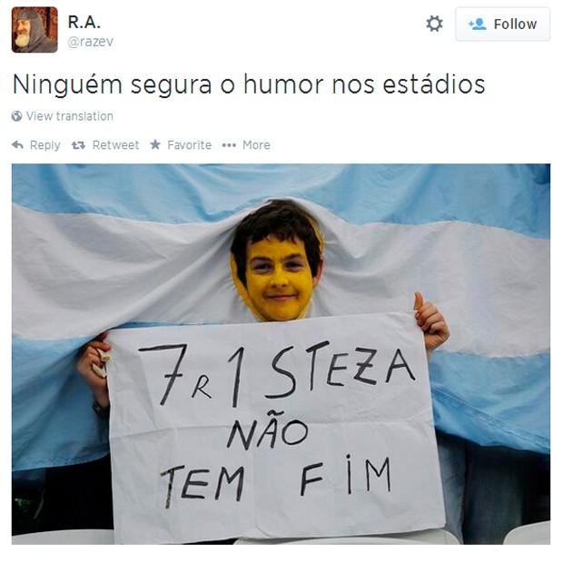 """""""Tristeza não tem fim..."""" (Foto: Reprodução/Twitter)"""