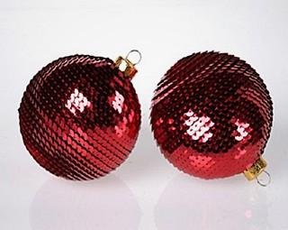 Árvore de Natal Solidária - Decoração - Bola Lantejoula (Foto: divulgação)