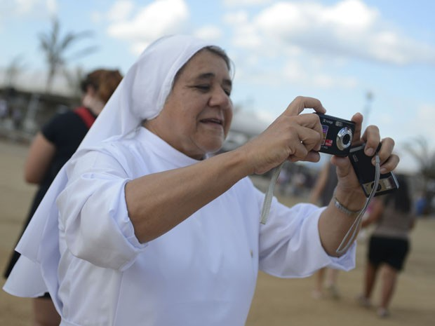 A irmã Maria Adir morou boa parte da vida em Roma, na Itália, mas atualmente está em São Paulo (Foto: Luka Santos/G1)