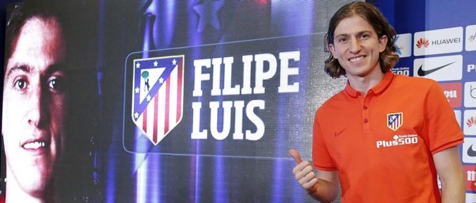 Filipe Luís Atlético de Madrid (Foto: Divulgação/Site oficial do Atlético)