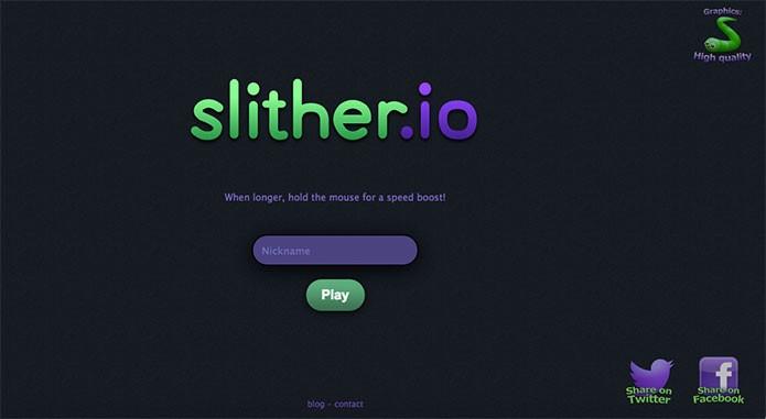 Compartilhe para liberar a alteração de skin em Slither.io (Foto: Reprodução/Felipe Vinha)