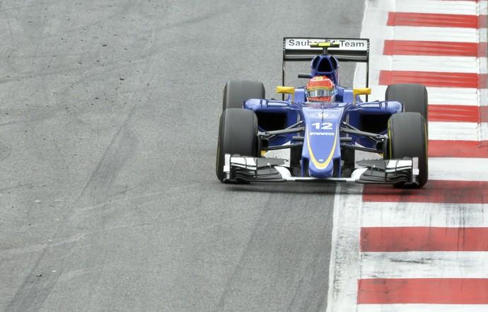 Felipe Nasr GP Áustria Sauber (Foto: AP)