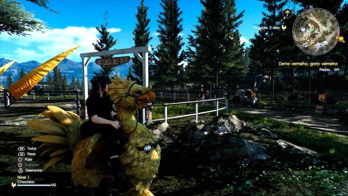 Final Fantasy XV: escolha os melhores lugares para relaxar e contabilizar XP (Foto: Reprodução/Victor Teixeira)